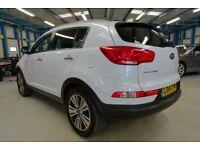 Kia Sportage CRDI 3 SAT NAV ISG [ONLY 1 OWNER / NAV / PANO ROOF] (pure white) 2014
