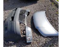 VW T5 Bonnet bumper and headlights (grey plastic)