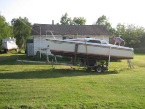 Hunter 18.5' Sailboat with Trailer