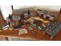 LARGE COLLECTION OF MODEL RAILWAY BUILDINGS-00 SCALE