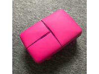 Pink functional lunch box