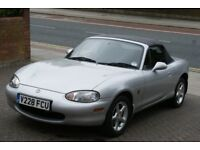 Mazda MX-5, 1999, Very Low Mileage 44000 miles, Superb Rust Free Example, Silver