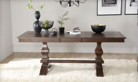 Beautiful Walnut Wood Extendable Dining Table - Brand New and Unused