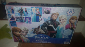 brand new 8 pack frozen puzzles