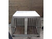 Double dog transport box