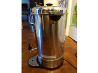 Swan Tea Urn 20 litre, with drip tray, nearly new. Energy efficient keep hot water function, Ern