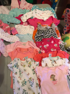Girls diaper shirts size newborn to 3 mos - $25