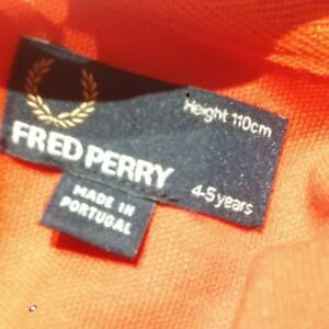 "fred perry ""track jacket"" neuf"