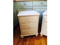 Pair of john Lewis solid pine painted bedside cabinets