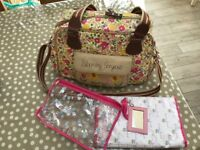 Pink Lining Blooming Gorgeous Changing Bag, Mini Pink Lining Yummy Mummy bag and bottle warmer