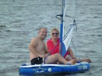 Aquaglide inflatable sailing dinghy and windsurfer