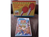 Samba De Amigo Wii game with maracas