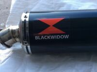 Suzuki GSXR Black Widow performance exhaust. As new.