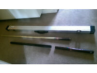 3/4 Length Snooker Cue, Case and Extensions