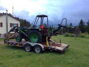 tracteur massey harris avec pépine (backoe) et loader !!!!!!!