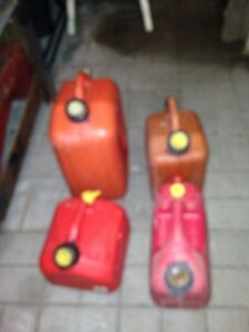 4 Petro gas containers