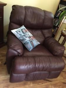 Leather Rocker/Recliner - Lane Furniture
