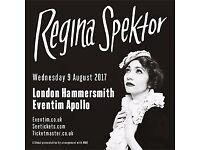 Regina Spektor - London - Eventim Apollo - 9 August - x1 ticket - £40