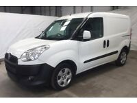 Fiat Doblo 1.3 to rent - Fully Comprehensive Hire & Reward (courier) insurance included