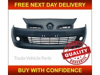 """RENAULT CLIO 3 2005-2009 FRONT BUMPER PRIMED FOR 15"""" In WHEEL SIZE HIGH QUALITY FREE DELIVERY"""