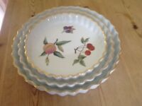 Royal Worcester flan dishes