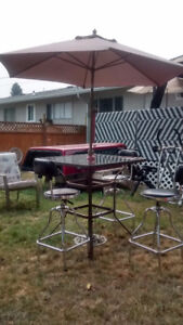 deck set with umbrella and stand include