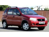 2003 SUZUKI IGNIS GL 1.3, 79906 MILES, 10 MONTHS MOT, FULL SERVICE HISTORY, 2 KEYS, MINT CONDITION.
