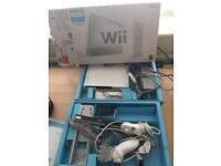 Nintendo Wii, 1 remote, 7+ games, 2 secondary remotes , all the wires and cables