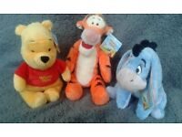 3x Winnie The PoohToys (Brand New With Tags)
