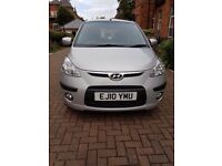 2010 SILVER HYUNDAI I10 STYLE WITH 9 MONTHS MOT