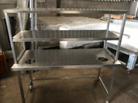 CATERING EQUIPMENT - TABLE WITH SHELF 150X60CM