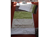 Single quilt covers and sheets