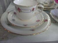 Vintage Cups Saucers Plates Matched and Mismatch