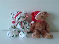 Ty Holiday Teddies 1997 & 1998