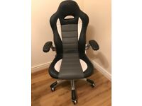 Pristine leather look office chair
