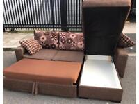 CORNER SOFA WITH BED & STORAGE !! FREE DELIVERY