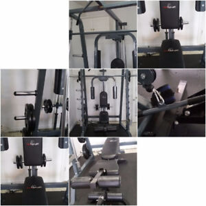 Olympic Squat Rack with Lad Pull Down and Rowing