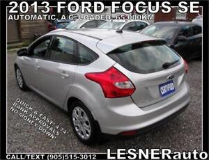 2013 FORD FOUCS SE HATCH -FACTORY WARRANTY WITH 65,000KM!