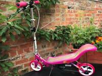 Large girls pink space scooter