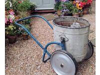 Antique Galvanised Garden Water Bowser