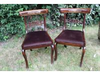 Two vintage chairs with easily removable seats