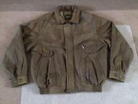 Brown soft real leather men's coat/jacket - Aviatrix - Size:XL