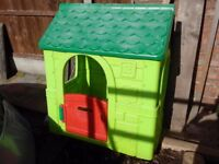 Green kids playhouse