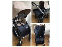 Bugaboo Chameleon Limited Edition Denim 007 pram and carry cot