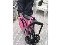 Women's golf clubs , bag and trolley