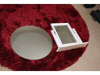Mirrors for sale (1 wall mounted and 1 free standing vanity mirror)