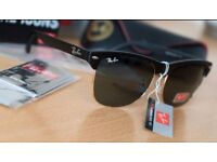 FREE DELIVERY TODAY! PAYPAL ACCEPTED ALSO! RAYBAN CLUBMASTERS BLACK SUNGLASSES gift birthday