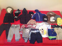 Used baby boy clothes bundle 9-12 mnths