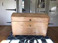 Antique Hungarian storage trunk/chest - solid wood