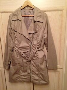 DKNY moto  style trench coat/ Size Large (Fall or Spring
